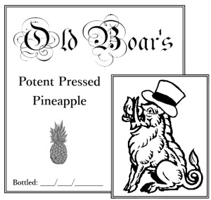 Potent Pressed Pineapple label