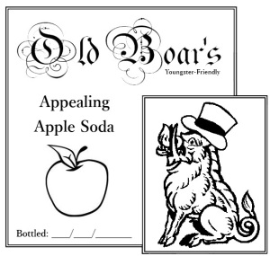 Appealing Apple Soda label