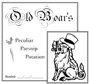 Peculiar Parsnip Potation label